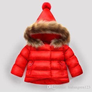 TR08 amn marca crianças casacos meninos e meninas casacos de inverno hoodies das crianças do bebê casacos crianças outwear crianças 2 cores 1-6 t bebê quente vendido-1