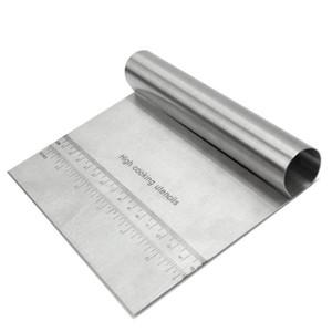 15 * 11.5cm mutfak aletleri Kalınlaşmış Erişte Bıçak ile Ölçek EEA2179 Kılavuzu Ölçme Paslanmaz Çelik Bench Raspa Pizza Hamur Kesici