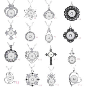 7 Styles Noosa assortis Ginger 18mm Pressions Chunk Charms Coeur en cristal Colliers Fit multi Pendentif bijoux