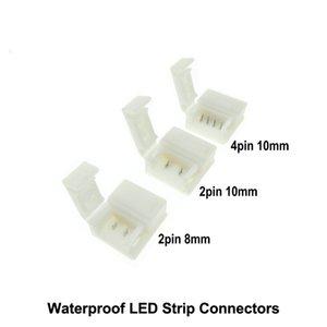 Freies Schweißen Connector für wasserdichte LED Streifen 2pin 8mm / 2pin 10mm / 4pin 10mm