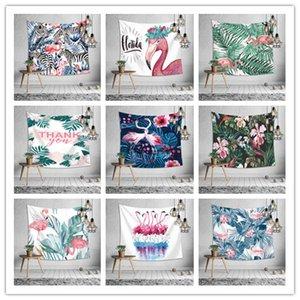 Elegante Wandbehang Tapisserie 19 Design Druck Flamingo Tischdecke Bettlaken Strandtuch Hauptdekoration Yoga-Matte Party Hintergrund
