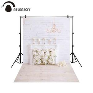 all'ingrosso fotografia sfondo elegante camino bianco fiori sfondo photocall foto sparare prop photobooth tessuto personalizzato