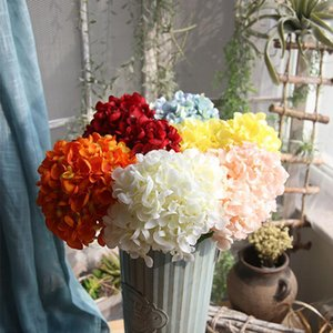 Hydrange الأبيض باقة زهور الكوبية الحرير زهرة باقة الحرير زهور الزفاف حزب ديكور المنزل الاصطناعي زهرة