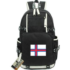 Zaino Isole Faroe Zaino Zaino bandiera Margrethe II king Zaino bandiera nazionale Zaino in tela Zaino da giorno per esterni