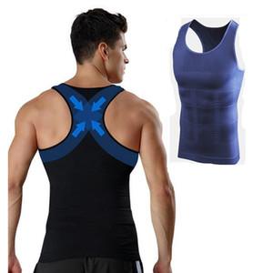 Uomo Gynecomastia Vest Dimagrante Tette Body Shaper Control Pancia pancia Tummy T-Shirt Senza Maniche Back Support Biancheria Intima Shapewear