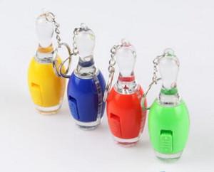 الجدة البولينج مضيا مضيئة مصغرة المفاتيح أضواء البولينج الكرة أدت الإضاءة مفتاح سلسلة كيرينغ مفتاح سلسلة حلقة رئيسية