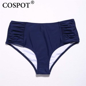 Cospica Bikini Bottoms Swimming Trunk Swimwear Bragas Ropa interior Pantalones de cintura alta Two Piece Separates Beach Wear Shorts Badpak