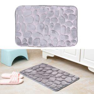 Non-Slip Flanelle tapis de bain salle de bain tapis tapis paillasson cuisine salle de bains siège de voiture doux respirant salle de bains tapis de bain