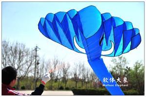 5.2m Blue single Line Stunt The elephant POWER Sport Kite Free Shipping