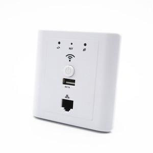 Tomada de Hotel Wi-fi em Suporte de Roteador Wall Ap PoE Usb Lan Wi-fi Ponto de Acesso de Montagem em Parede Branco