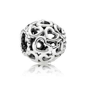 Creux de nombreux petits alliages cardiaques charme perle de la perle mode femme bijoux magnifique style européen pour pandora bracelet collier