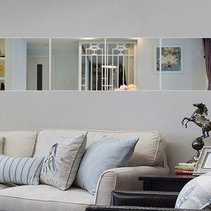 9pcs / Set adesivi murali specchio per la decorazione domestica modello circolare fai da te autoadesivo della parete della decorazione camera da letto soggiorno murale decalcomania JK0116