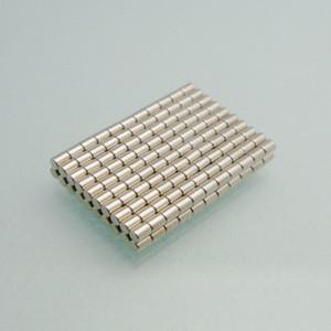 Mini aimant rond 100pcs dia1.5x2mm Ni + Cu + Ni enduit de minuscules aimants à tige, aimants de test DIY Aimants au néodyme terre rare NdFeB