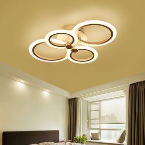 Vintage Rustic Contemporary moderno Led soffitto rotondo anello quadrato fiore acrilico Chandelier Camera da letto Sala da pranzo illuminazione EMS