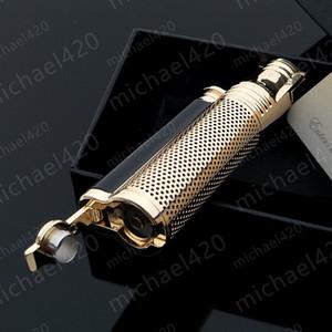 절묘한 성격 포장의 새로운 품질 추세 LUBINSKI 재사용 가능한 포켓 방풍 단발 제트 화염 담배 시가 라이터