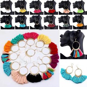 Orecchini nappa di favore di partito Orecchini di moda bohemien retrò Orecchino Big Circle Ciondola il regalo femminile WX9-1064 della decorazione di cerimonia nuziale