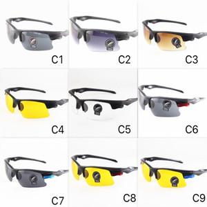 8 ألوان رخيصة الرياضة نظارات الرجال في الشمس نظارات للجنسين تصميم uv400 دراجة نارية نظارات الكمبيوتر نصف الإطار بالجملة