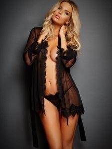 Frete Grátis !!! Sexy Lingerie Mulheres Transparente Lace Nightie Erotic Vestido Noite Robe Sex Lingerie Pijamas Define Mulheres Nightwear
