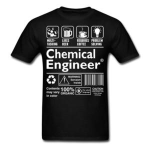 Ingeniero químico Definición divertida Camiseta de verano Camiseta de los hombres Marca Fitness Culturismo Culturismo O - Cuello Luz del sol Camiseta de los hombres