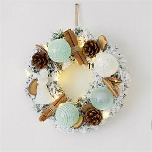 50см 60см рождественский венок из ротанга венок из тростника гирлянда рождественские украшения украшения праздничные атрибуты дома KTV декор