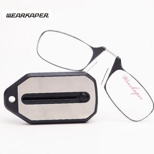 WEKKERER جديد البسيطة الطي نظارات القراءة التيتانيوم نظارات الرجال oculos دي غراو مع حلقة رئيسية المربع الأصلي 1.0 1.5 2.0 2.5 3.0