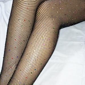 2018 sexy Fashion Women's colour Crystal Rhinestone Women's hosiery Fishnet socks Elastic Stockings FishNet Tights Pantyhose sexy Stockings