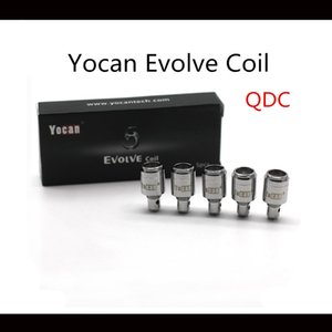 Yocan Evolve Coils For Yocan Evolve Wax Vape Pen Starter Kit Replacement QDC Quartz Dual Coil High Quality Coils