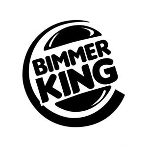 12*12 CM Bimmer king passionated style car vinyl sticker CA-0051