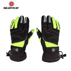 Мотоциклетные перчатки SCOYCO Светоотражающие зимние водонепроницаемые ветрозащитные термоперчатки Лыжный сноуборд с сенсорным экраном Guantes Luva