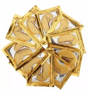 새로운 크리스탈 콜라겐 골드 파우더 눈가리개 수면 마스크 수면 마스크 100pcs = 50pack 무료 배송