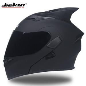 JIEKAI 902 Capacetes da motocicleta Dupla Viseira Modular Flip Up capacete DOT aprovado Full face casque moto racing capacete de Motocross