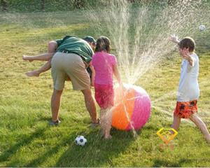 Protection de l'environnement Jouets d'extérieur Water Polo Gonflable Eau De Pulvérisation Jouet Été Ballon De Plage Pelouse Ball Jouets pour Enfants Cadeaux