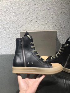 2018SS Zeh und ersetzt als Sohle hoch Original TPU Duftende Sohle Earth-Tone Vegan High Top aus echtem Leder Sneaker Trainer Stiefel