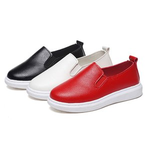 Kids Shoes Boys girls PU Leather Shoes Kids Moccasin Loafers Toddlers Casual Flats Sneakers breathable Flat Single sneakers