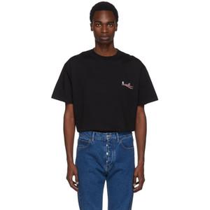Luxus Europäischen Cola Welle T-stück Brief Druck Hohe Qualität Männer Und Frauen Paar Lose Komfortable T-Shirt HFWPTX147