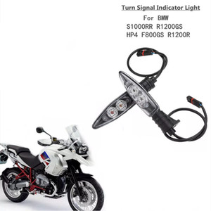 Motocicleta Frente Turn Signals Luz Shift LED Blinker Indicador Flasher Luzes Para BMW R1200GS R800GS AVENTURA F800R K1200R