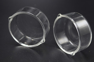 Wax Glass Container Huile Anneau Cendrier Plat en verre Cendrier plat Dabber vaisselle pour rig Dab pipe en verre d'eau Bong