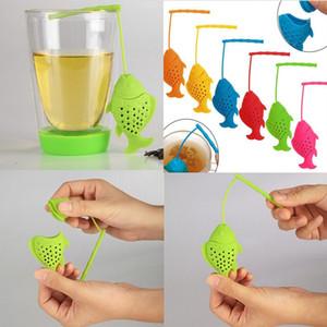 Balık Tasarım Çay demlik Gıda Sınıfı Silikon Gevşek Tea Leaf Demlik Bitkisel Demlik Filtre Süzgeç Drinkware WX9-281