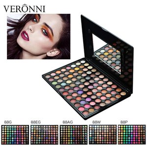 Lo nuevo 88 Color Paleta de Sombra de Ojos Mate Brillo Sombra de Ojos Diamond Shimmer Eye Primer Color Caliente Sombra de Ojos Regalo de las mujeres