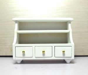 1:12 scale Toy Casa De Bonecas Em Miniatura Móveis De Madeira Banheiro Banheiro Gaveta Do Armário casa de Bonecas armário Prateleira Decoração No Peito