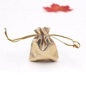 Hot vente mode 200Pcs / lot 5x7cm couleur or / argent Sac à cordonnet Organza Bijoux Bijoux Organisateur Pouch Emballage Pochettes d'affichage