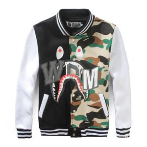 Nuovo arrivo Uomo Donna Aapeus Camouflage Jacket Aapeus Shark Style Jacket Uomo Primavera Autunno Hip Hop Swag Baseball Bomber Giacche