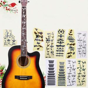고품질 어쿠스틱 일렉트릭 기타 스티커 Bass Inlay Decal 울트라 얇은 Fretboard 스티커 악기 기타 액세서리 무료 배송