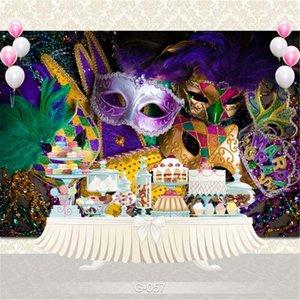 Маскарад Карнавал Photo Booth Фон Виниловых ткани Печатные Красочные маски вечер выпускной вечер Birthday Party Фото обои фоны
