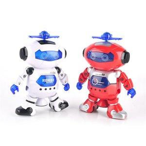 360 Rotating inteligente Dança Espaço Robot eletrônico Walking Brinquedos com música presente Luz For Kids astronauta de brinquedo para crianças