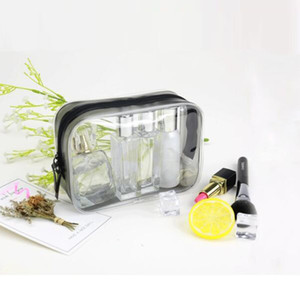 17cm * 12cm 17x12 transparente pvc plástico resellable deslizador cremallera impermeable viaje bolsa de aseo