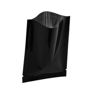 6 * 9cm 200Pcs / Lot 블랙 히트 Sealable 오픈 탑 알루미늄 호일 패키지 가방 차 분말 진공 식품 보관 백 마일 라 포장 주머니
