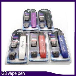 Kit penna vape G8 Fumo piatto doppio proiettile 300mAh con atomizzatore con anima in cotone da 1 ml Batteria penna vape mod VS suorin drop 0268084-1