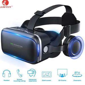 Mais novo !! 3D VR Óculos de Realidade Virtual do Fone de Ouvido SHINECON VR Óculos de Jogo Com Embutidos Fones De Ouvido Estéreo 4.7-6 Polegada