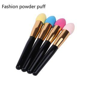 Wholesale Makeup Cosmetic Powder Puff Pen Sponge Water-drop Sponge Long handle powder puff facial foundation cosmetic Makeup sponge Puff